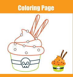 Coloring page educational children game color vector