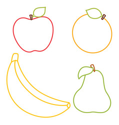 coloring page of fruits vector image
