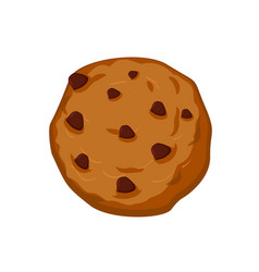 Cookies with chocolate drops isolated sweets on vector