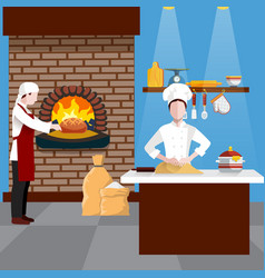 cooking people flyer vector image