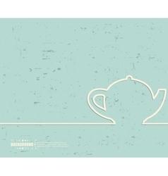 Creative teapot Art template vector