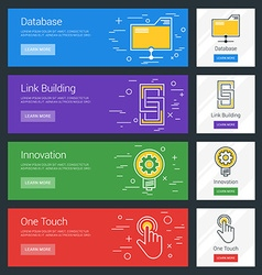 Database Link Building Innovation One Touch Flat vector