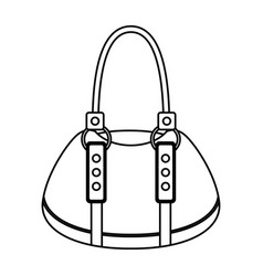 femenine bag isolated icon vector image