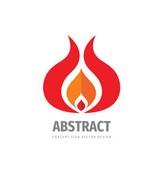 fire flame logo design vector image