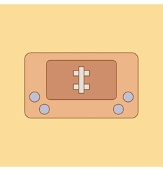 flat icon on background Kids toy console vector image