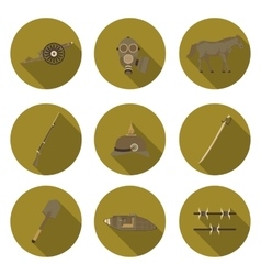 flat icons the first world war vector image