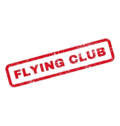 Flying Club Text Rubber Stamp vector