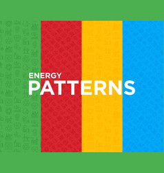 Four different energy seamless pattern vector