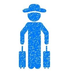 Gentleman Passenger Grainy Texture Icon vector