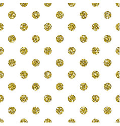 gold glitter dotted pattern background vector image