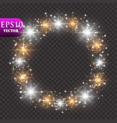 golden lights background christmas lights concept vector image