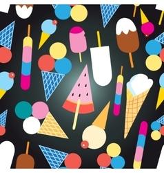Graphic design colorful ice cream vector image