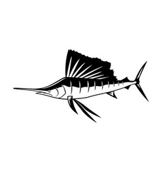 graphic marlin vector image