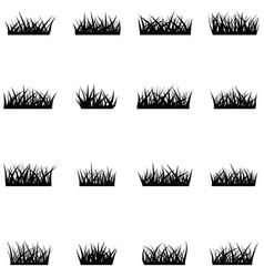 Grass icon set vector
