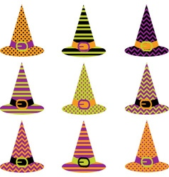 Halloween Hat set vector image