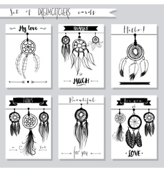 hand drawn set of with dream vector image