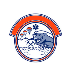 Honey badger land sea air rescue mascot vector