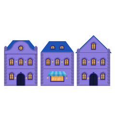 houses old european city street with residential vector image