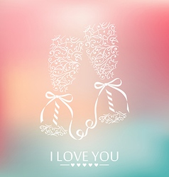 I love you background vector
