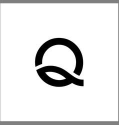 initials letter q logo vector image