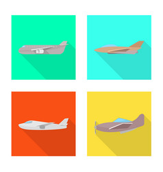 isolated object travel and airways sign vector image