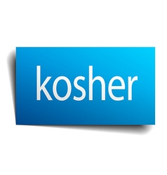 Kosher blue paper sign on white background vector