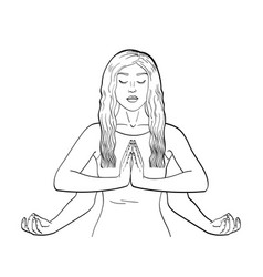 Lakshmi a woman with four hands in hinduism pose vector