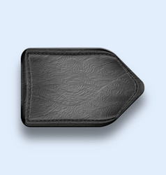 Leather black realistic stitched pointer textured vector