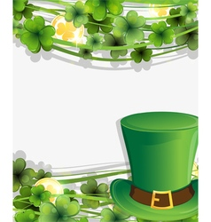 Leprechaun hat and gold coins vector