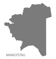 Mangystau kazakhstan map grey vector