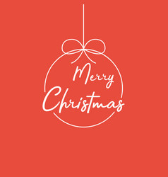 merry christmas lettering template white template vector image