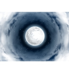 Mystical night sky vortex clouds around the vector