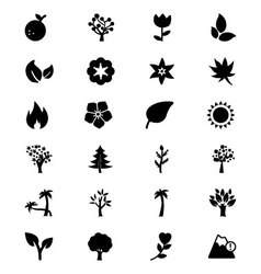 Nature Icons 3 vector image
