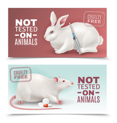 not tested on animals banners vector image