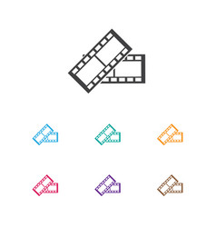 of filming symbol on film tape vector image
