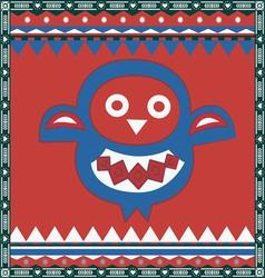 ornamental owl print vector image