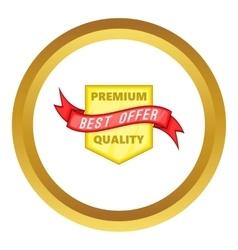 Premium quality label icon vector image