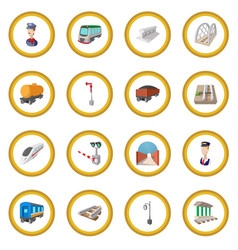 Railroad cartoon icon circle vector