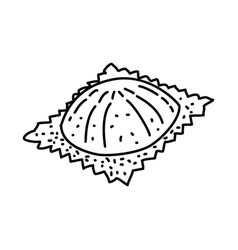 ravioli icon doodle hand drawn or outline icon vector image