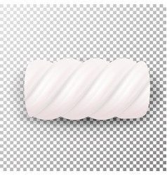 Realistic marshmallows candy sweet twist vector