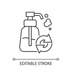 refillable soap dispenser linear icon vector image