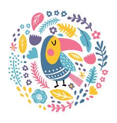 Round toucan vector