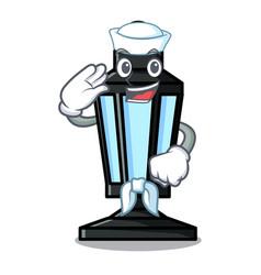 Sailor street lamp character cartoon vector