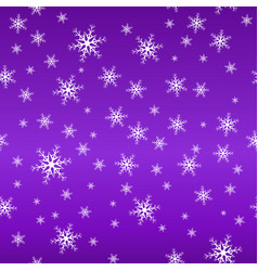 seamless snow pattern simple white vector image