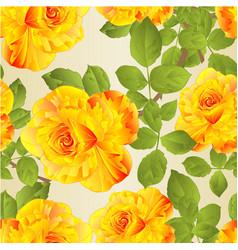 Seamless texture flower yellow rose stem vector