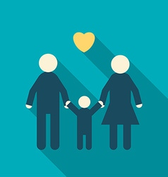 Simple icon a happy family father mother child vector