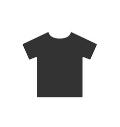 simple t-shirt black pictograph shirt icon vector image