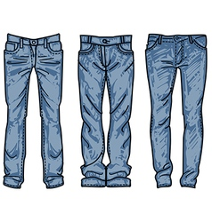 sketch mens jeans fashion jean vector image