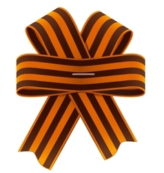 St George ribbon bow Symbol of Russian Victory vector