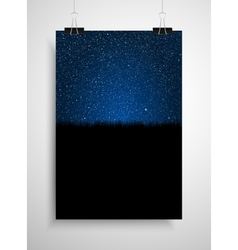 starry sky and grass poster on wall eps 10 vector image